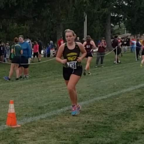 Golden Eagle runners ran at Troy today