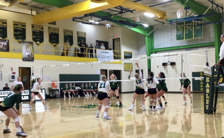Lady Eagles Fly on to Next Round in Volleyball Postseason