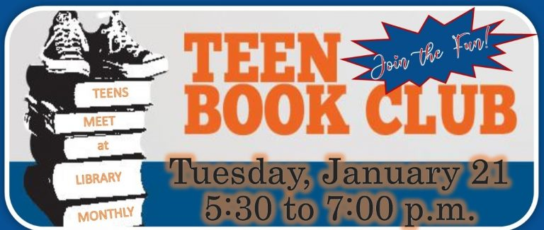Mt. Sterling Library Teen Book Club Tuesday