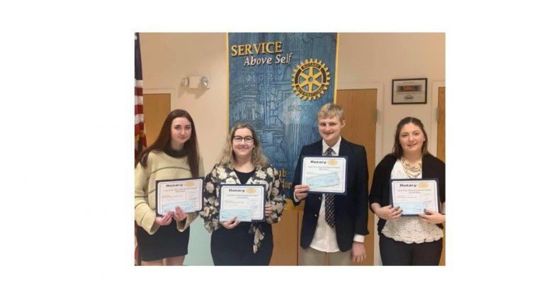 Cline selected winner of Rotary Speech Competition