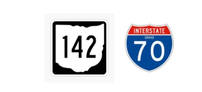 State Route 142 over I-70 traffic impact starting August 10